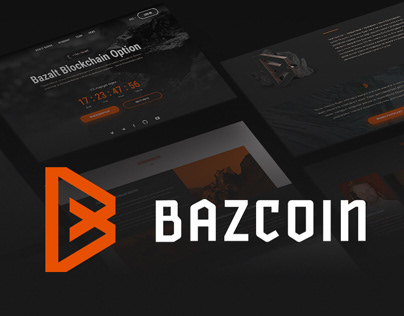 BAZCOIN — LOGO & WEB for ICO (cryptocurrency)