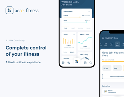 Aero Fitness Mobile App | UI/UX Design Case Study