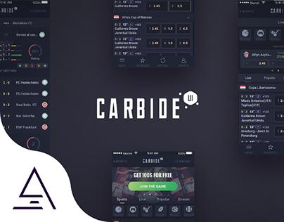 """Carbide UI"" Sportsbook app UI"