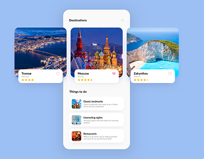 Hotel Booking iOS App - Home Page Design