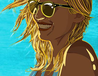 Tatiana en la Playa