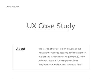UX Case Study BeFitYoga