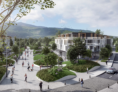 New residential area in Sofia