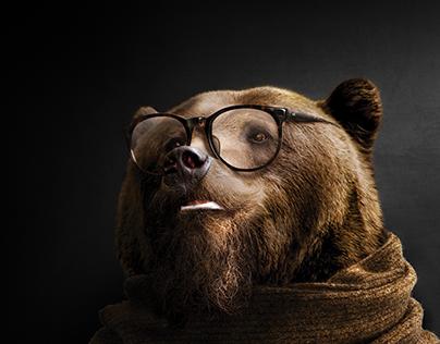 Hipster Bear