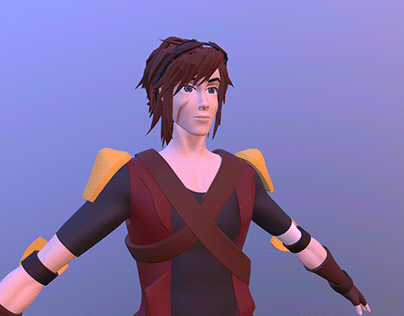 Original Characters (High-poly)