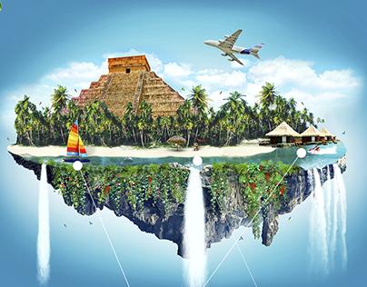 Fly to Riviera Maya campaign
