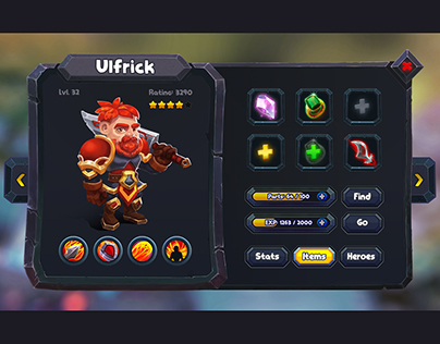 Game UI for Stone Knigts