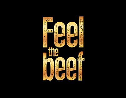 FEEL THE BEEF Brand design.