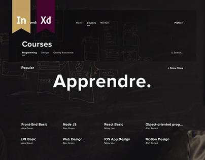 Apprendre. Learning platform