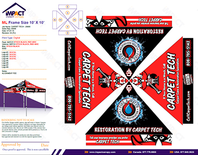 Design Work & Branding for Carpet Tech and its DBA's