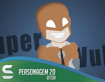 Super Zlung - Personagem 2D, vetor