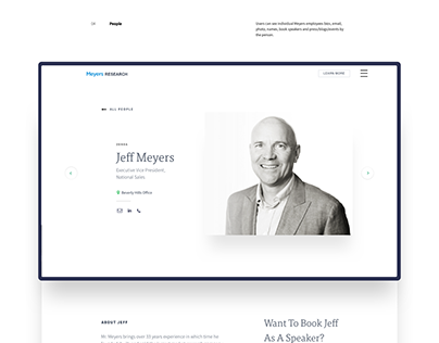Meyers Research - Redesign