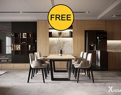 FREE Interior Kitchen - Livingroom 22