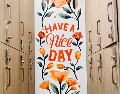 Have a nice day mural