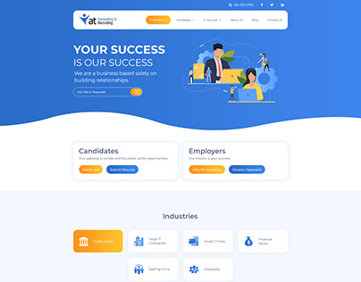 Consulting and Recruting Website
