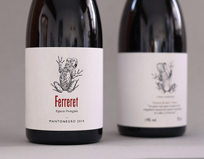 """Ferreret"" Wine Label"