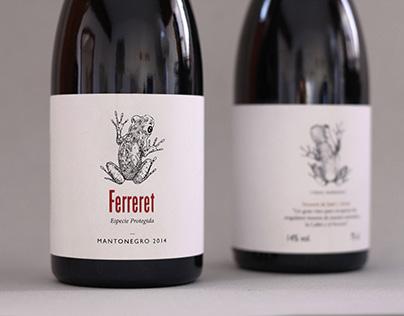 """Ferreret"" Wine Label"