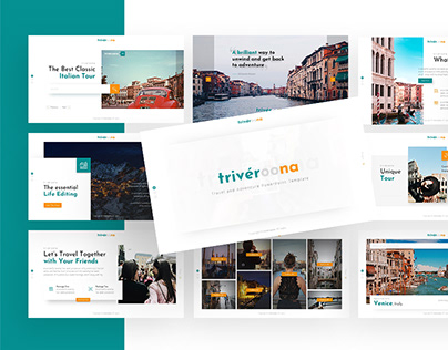 Triveroona - Travelling Powerpoint and Keynote Template