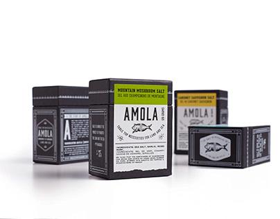 Amola Salt Rebranding & Packaging Design