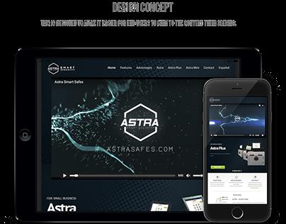 Astra Safes - Web Design