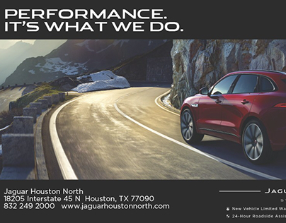 July Print Ad For Jaguar Houston North On Behance