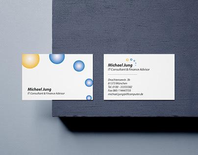 Logo + Visit Card IT / Finance Advisor (..fake details)