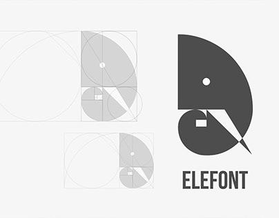 Elefont Logo Design