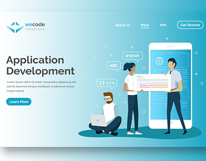 Brand Design for Wecode Solutions.