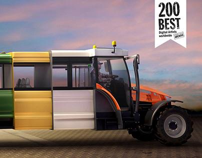 The Car-truck-van-bus-tractor