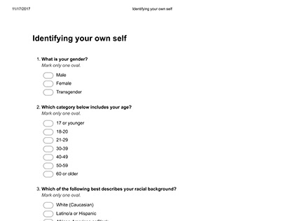 Identifying your ownself