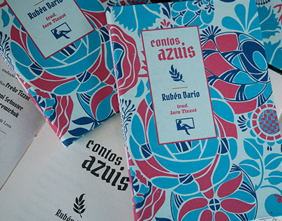 """Contos Azuis"" book cover and book design"