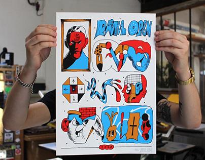 Silk screen pnints edition for Shlag Lab