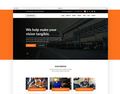 Factory Website Design