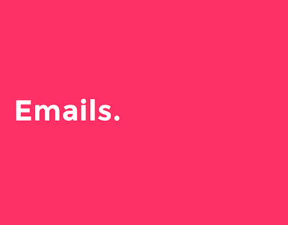 Emails for various brands