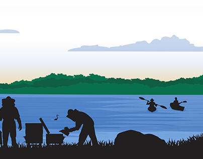 Gulf Coast Electric Cooperative Footer Illustration