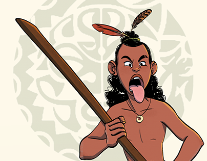 Young Maori warrior for Character Design Challenge