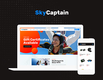 SkyCaptain | Skydiving & Extreme Flying Sports WP Theme