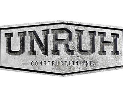 UNRUH Construction / Concrete Logo