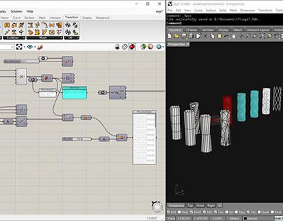 Rhino + Grasshopper 3D modelling