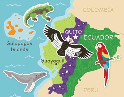 Kid's Box for Ecuador illustrations
