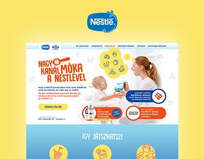 Promotional branding and website design for Nestle Baby
