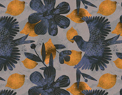 FANTASTIC GARDEN .Textile pattern