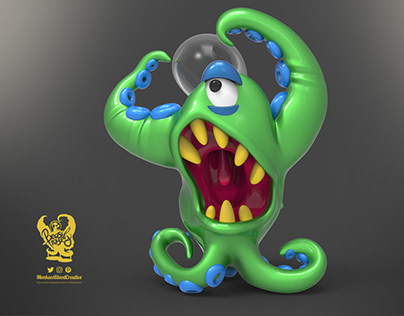 Beastly Toyz - Wide Eye Man - 3D Mascot