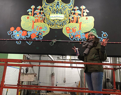 Death to Ego Mural (design by Seldon Hunt)