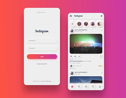 Neumorphism Instagram Redesign