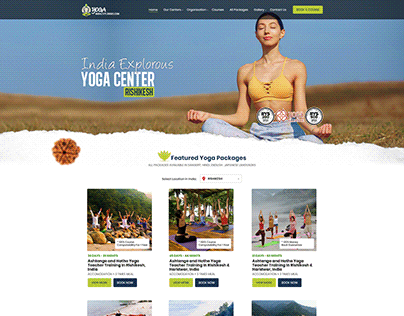 Yoga By India Explorous Website Design by ravisah.in