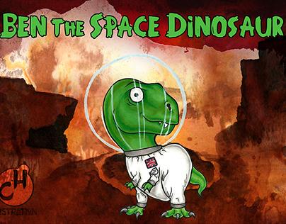 Ben the Space Dinosaur - Children's Book