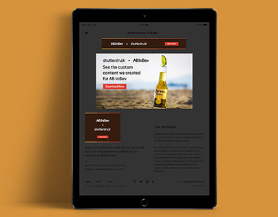 Shutterstock x ABInBev Display Ads