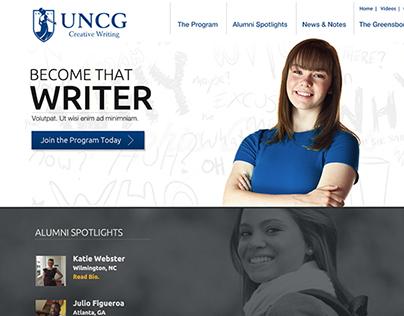 uncg creative writing center Mfa writing program at greensboro, greensboro, nc 447 likes the mfa writing program at greensboro is one of the oldest such programs in the country.