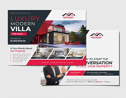Real Estate Postcard and Every door mail EDDM